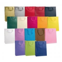 Confezione 12 pezzi - Borsa Carta Plastificata opaca