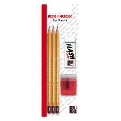 SET 3 matite + gomma+ temperino