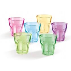 Bicchieri plastica trasparente ottagonali