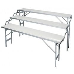 Espositore Alluminio Pieghevole 3 piani